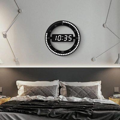 Horloge murale Design Led pour chambre