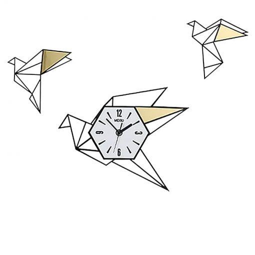 Grande horloge murale originale avec des oiseaux