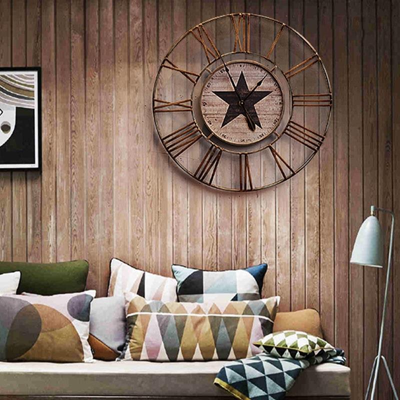 Grande horloge murale vintage pour la décoration intérieure