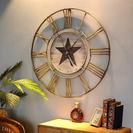 grande horloge murale vintage industrielle