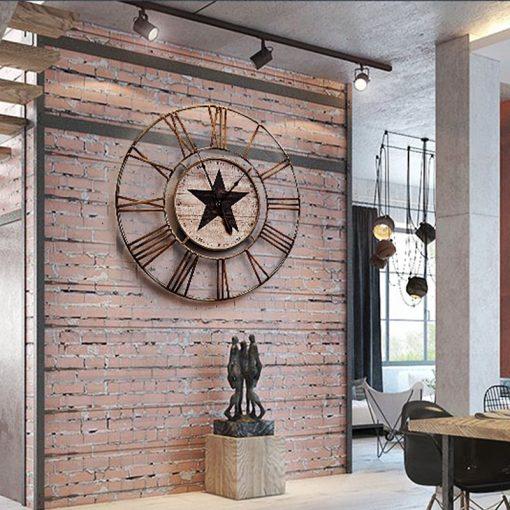 grande horloge murale vintage salon