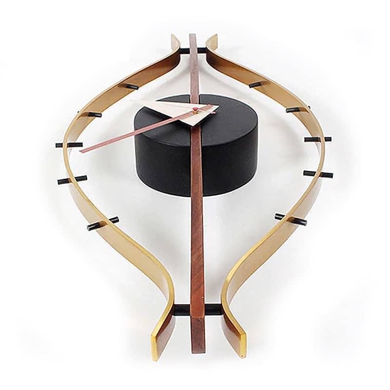 horloge bois metal design originale