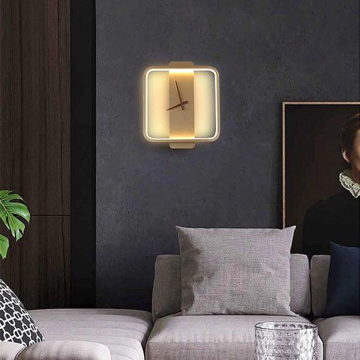 horloge design led carre beige
