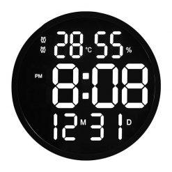 Horloge digitale murale originale avec son cadre noir