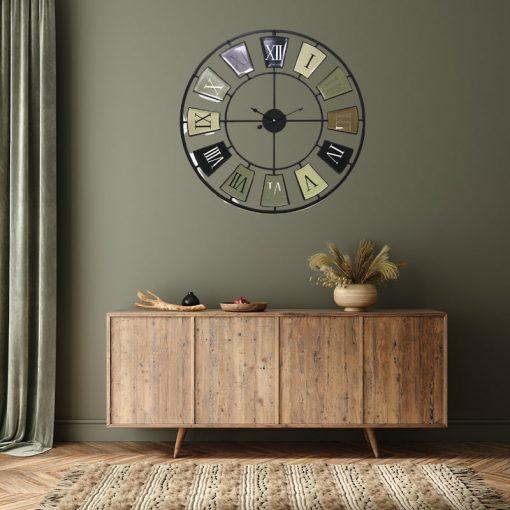 Horloge murale de 70 cm de diamètre style vintage rétro
