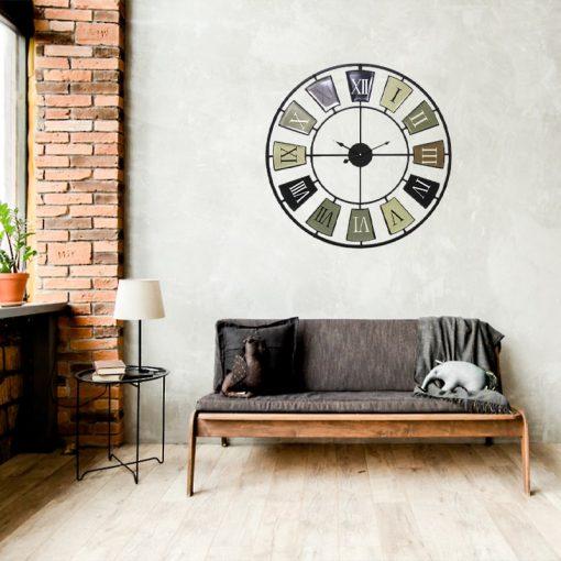 horloge murale 70 cm vintage sejour retro