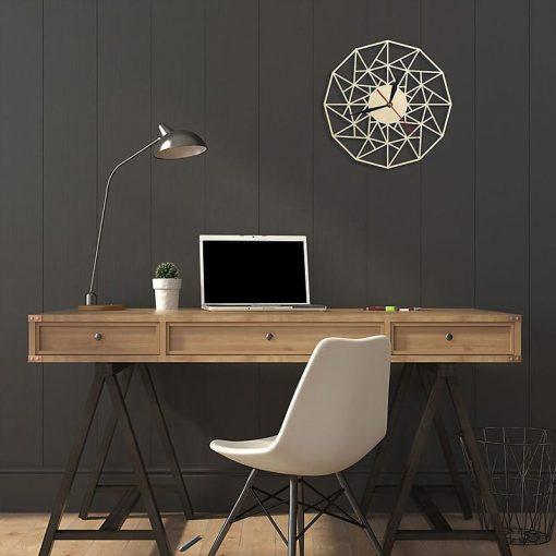 Horloge murale bois Design pour bureau