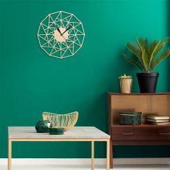 Horloge murale bois Design avec formes géométriques