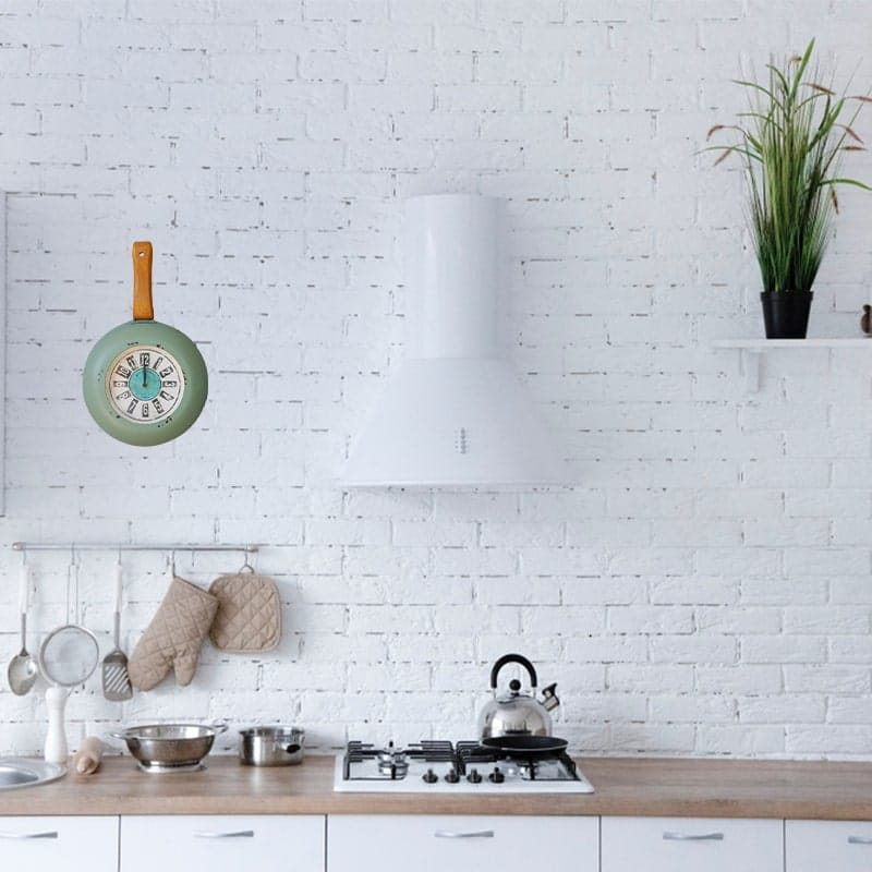 horloge murale cuisine moderne vintage