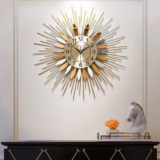 horloge murale design acier commode