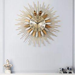 horloge murale design acier inoxydable