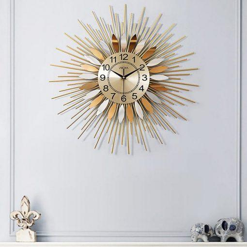 horloge murale design acier