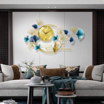 horloge murale salon design