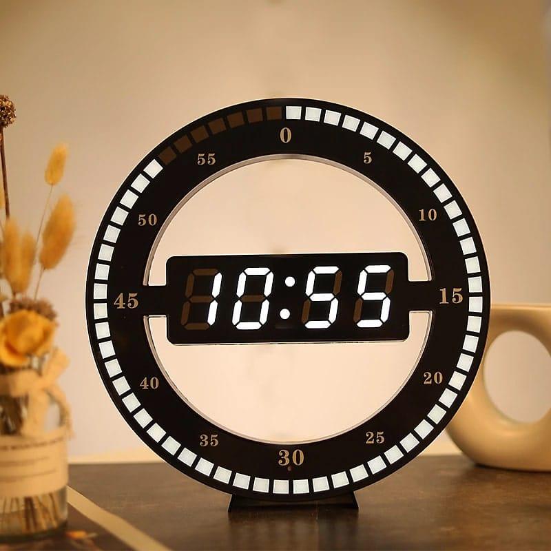 horloge murale design led