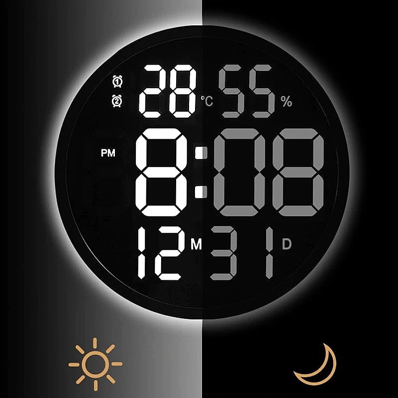 horloge murale digitale