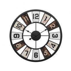 Horloge murale industrielle vintage de couleur noire