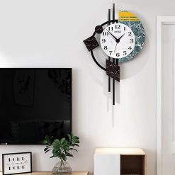 Horloge murale Design et moderne dans un séjour