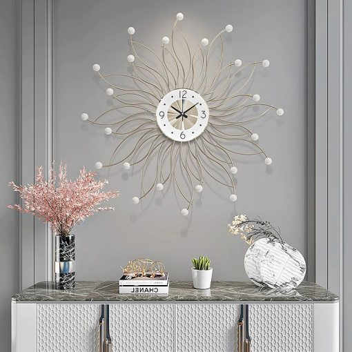 Horloge murale blanche design
