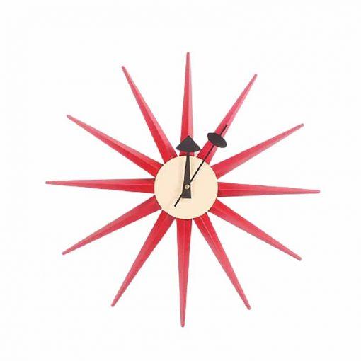 Horloge murale originale de couleur rouge