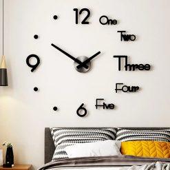 horloge murale sticker design chambre