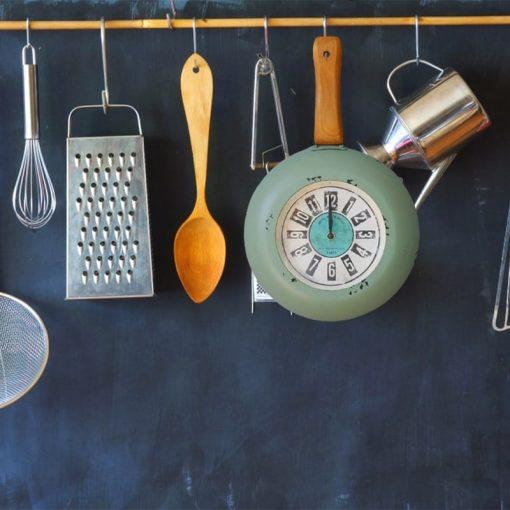 Horloge murale cuisine style vintage