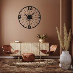horloge murale vintage metal design salon sejour