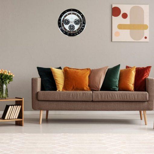Horloge murale de luxe style vintage et rétro de couleur noir