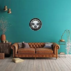 horloge murale vintage retro salon