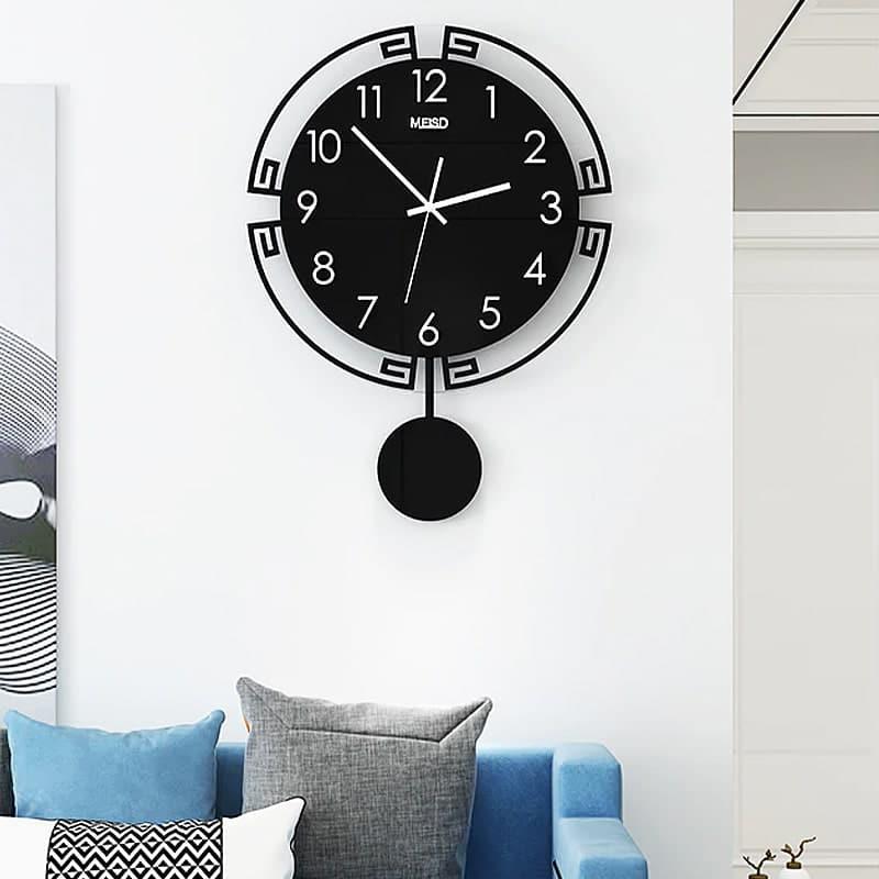 horloge pendule murale vintage salon canape