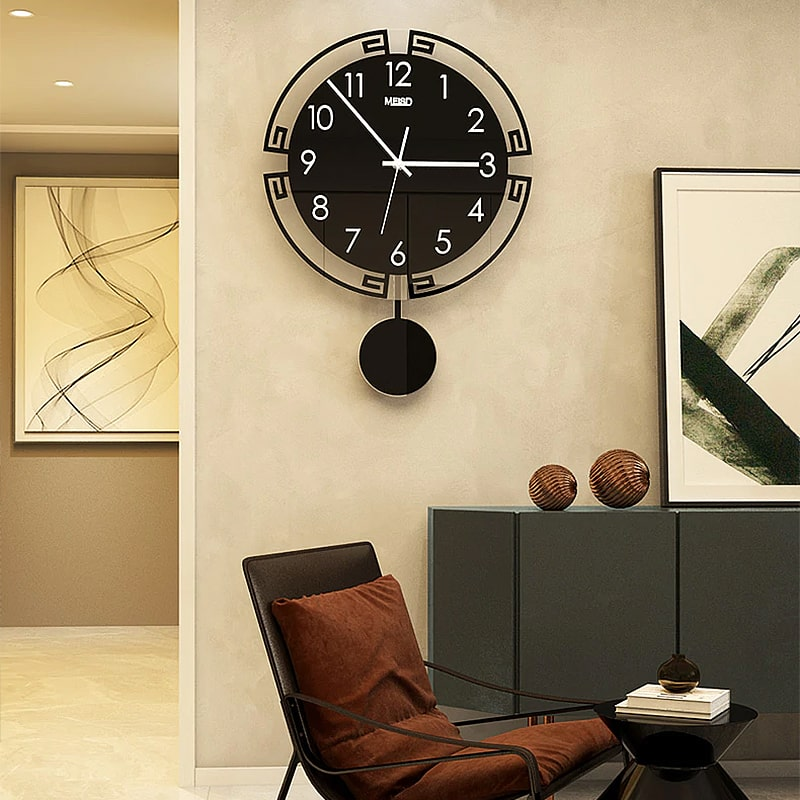 horloge pendule murale vintage sejour