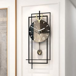Horloge rectangulaire murale moderne scandinave