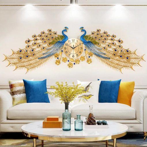 Design horloge murale géante dans un salon