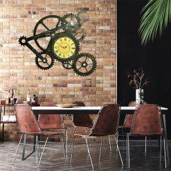 horloge geante style industriel
