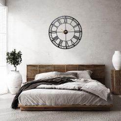 Horloge industrielle en fer forgé de diamètre 80 cm