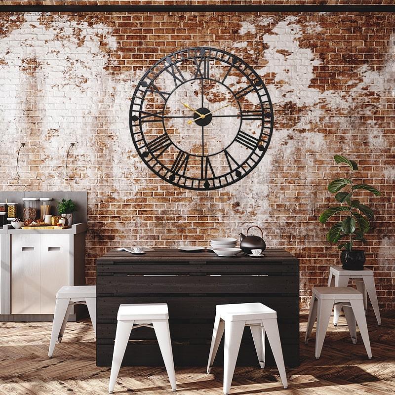 horloge industrielle geante