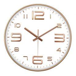 Horloge murale blanche design pour cuisine