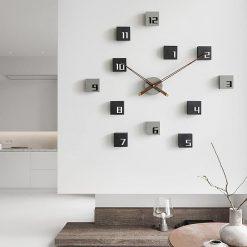 horloge murale bois design