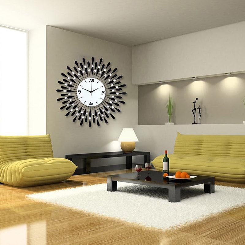 Horloge murale de luxe dans un séjour design
