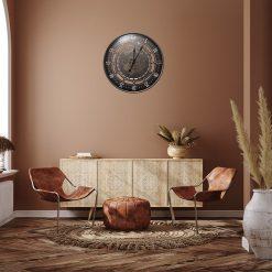 Horloge murale 60 cm en fer forgé pour une décoration industrielle