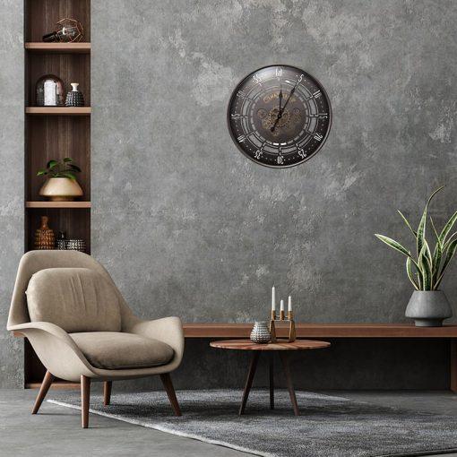 horloge murale industrielle 60 cm salon
