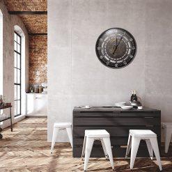 horloge murale industrielle 60 cm sejour