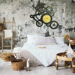 horloge murale industrielle engrenages