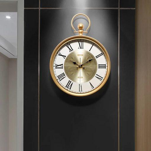 horloge murale retro vintage industriel haut gamme salon