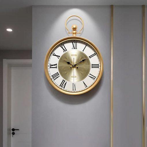 horloge murale retro vintage industriel haut gamme sejour