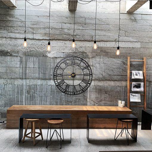 Horloge murale style industriel diamètre 80 cm