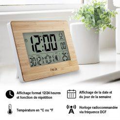 Caractéristiques de la petite horloge digitale murale