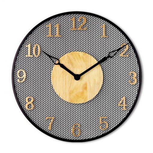 Grande horloge industrielle murale à chiffres arabes