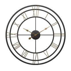 Grande horloge murale industrielle moderne
