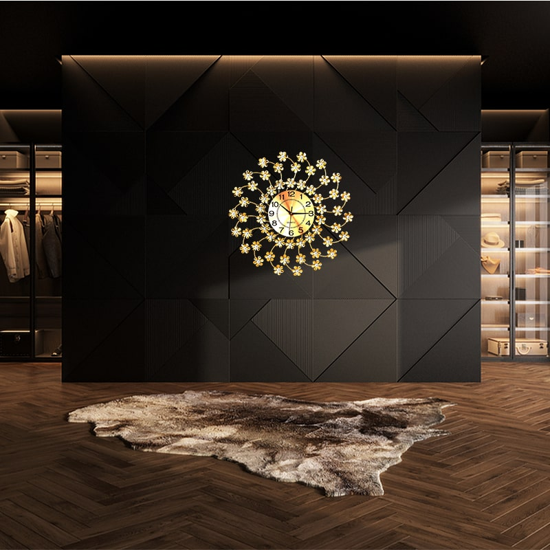Horloge décorative murale de luxe