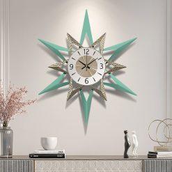 Horloge décorative murale design en métal